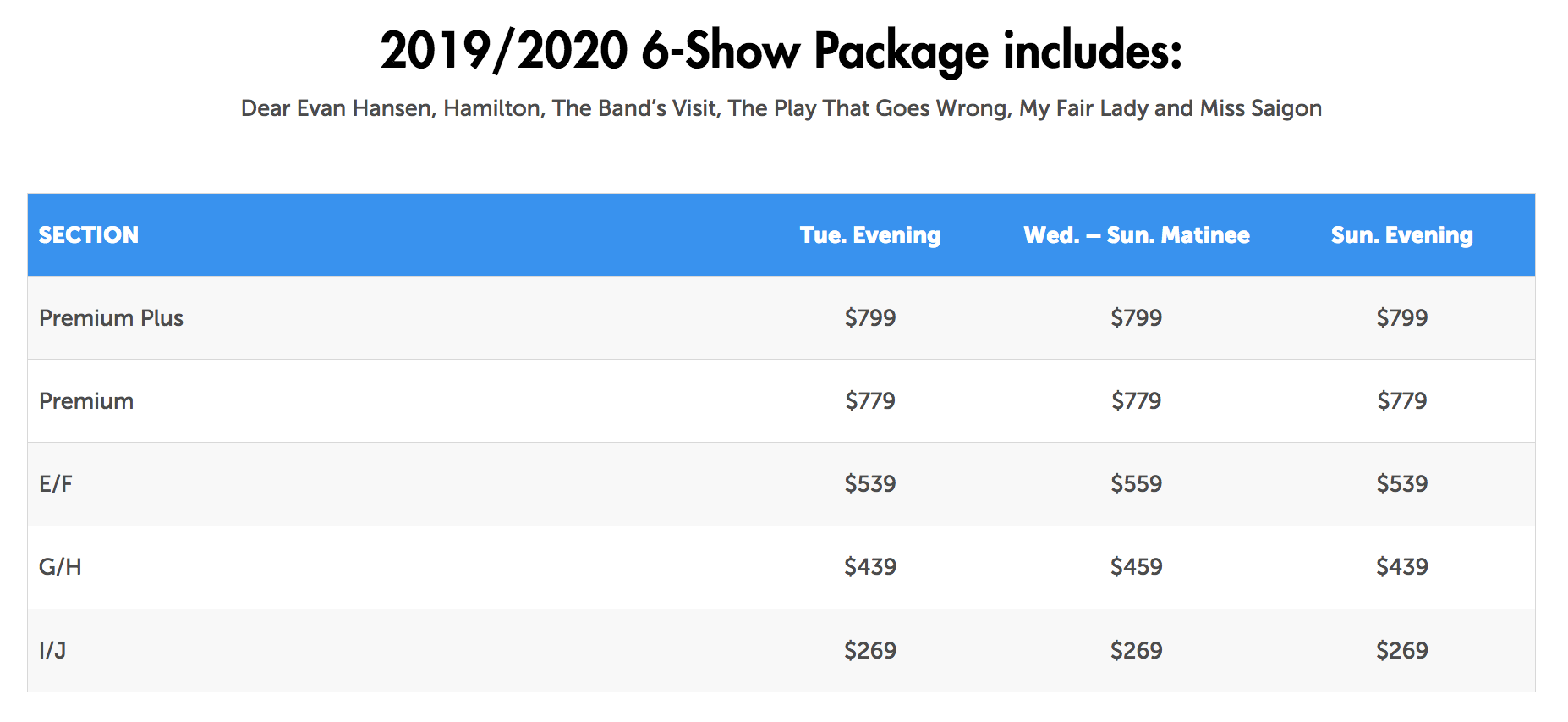 Broadway at the Marcus Center 2019-2020 | Series | Marcus