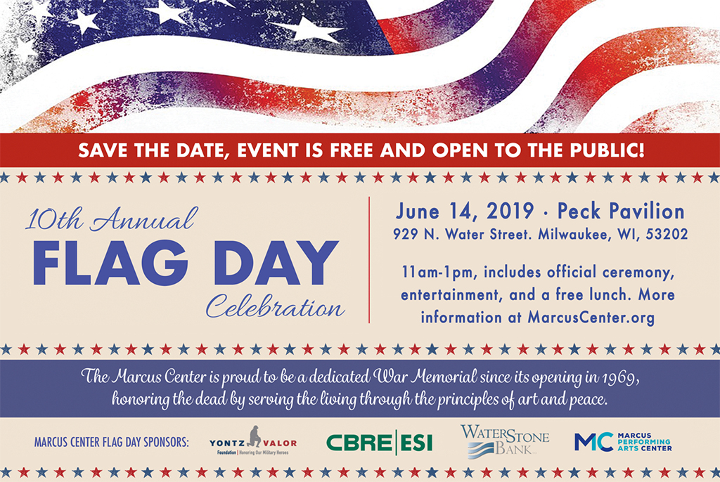 14th Annual Flag Day celebration at the Marcus Center in Milwaukee