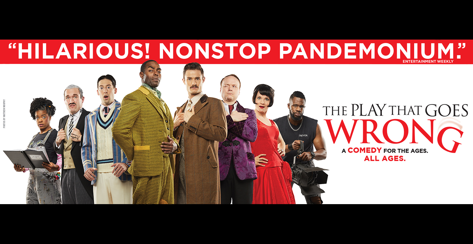 The Play That Goes Wrong Broadway at the Marcus Center in Milwaukee
