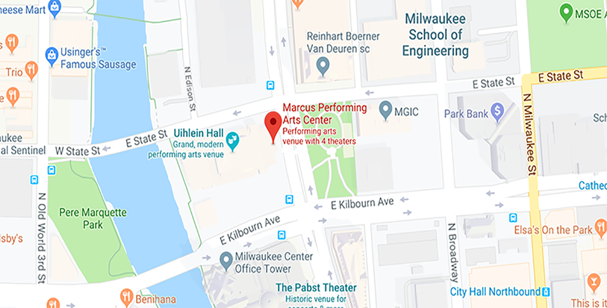 Directions and Parking at the Marcus Center in Milwaukee